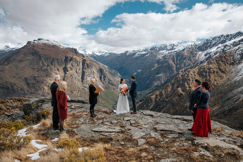 Queenstown Heli Wedding with Guests