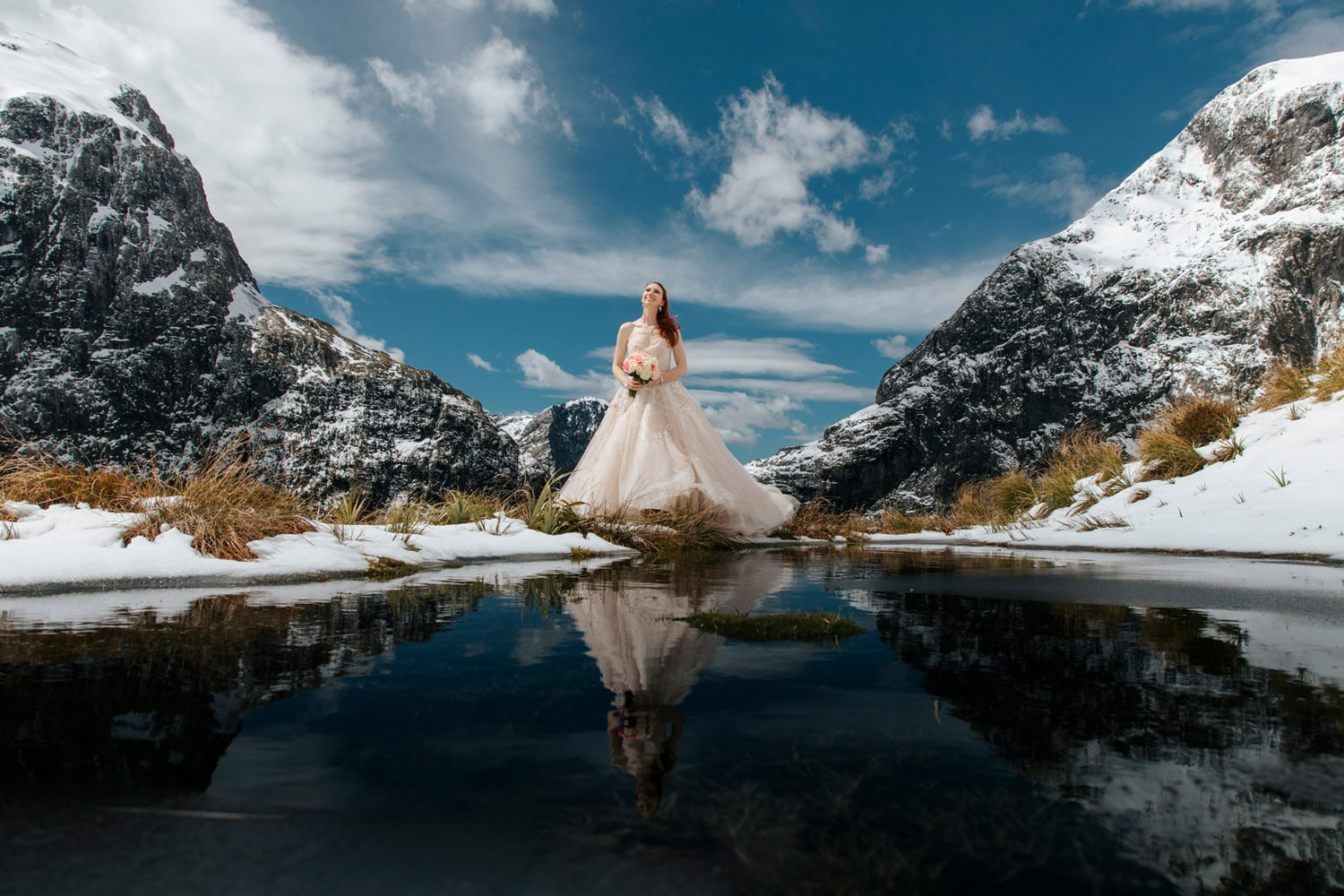 Heli Wedding at Lake Quill