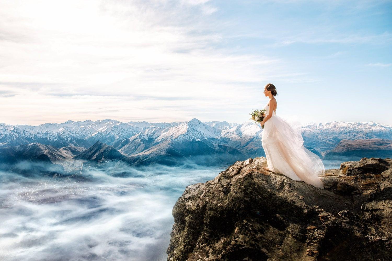 Heli Wedding on The Ledge