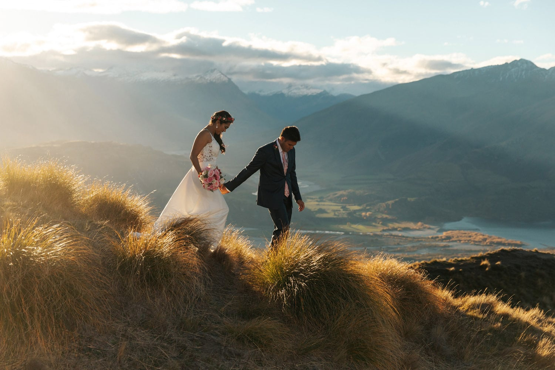 Heli Wedding on Coromandel Peak