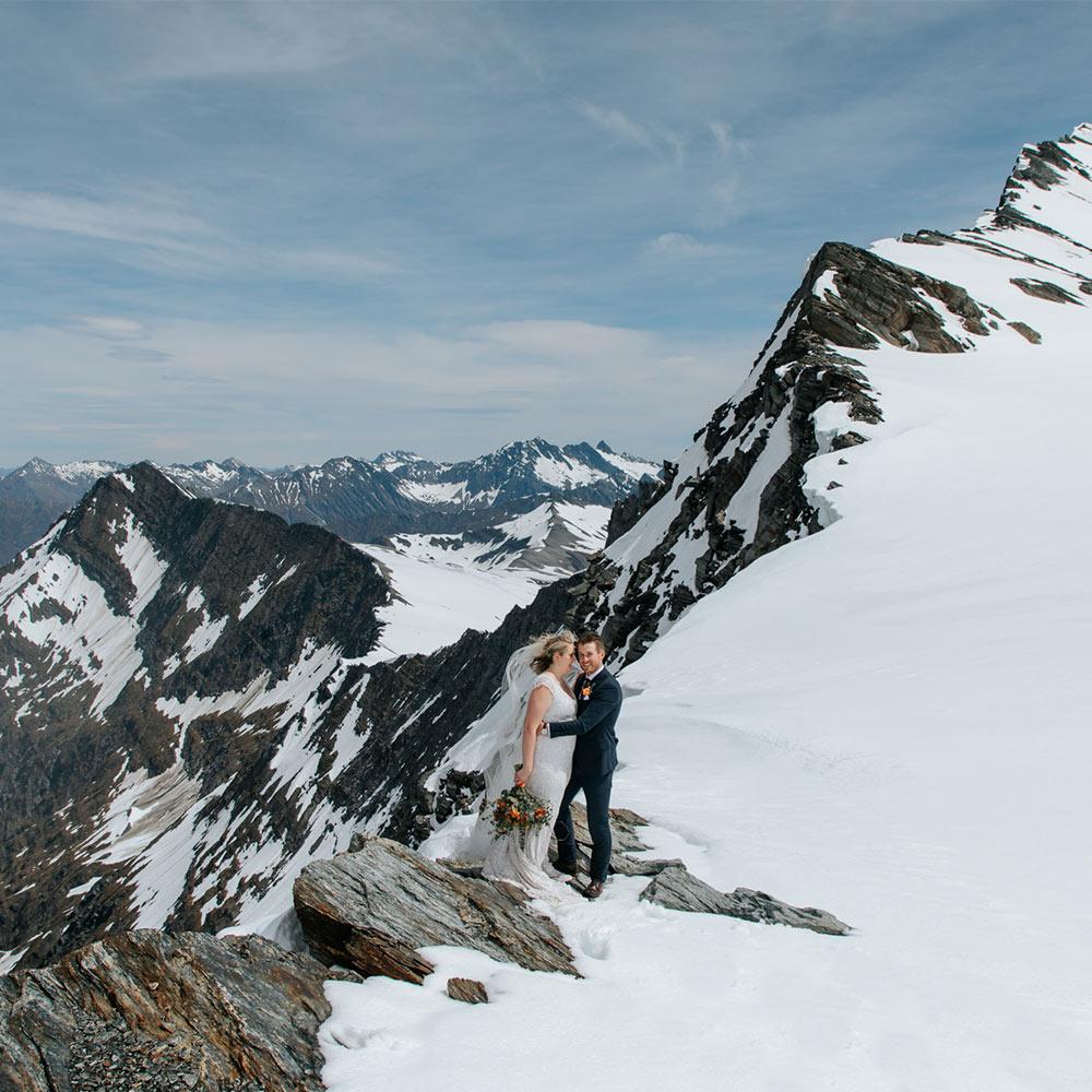 Heli Wedding at Isobel & Tyndall Glacier
