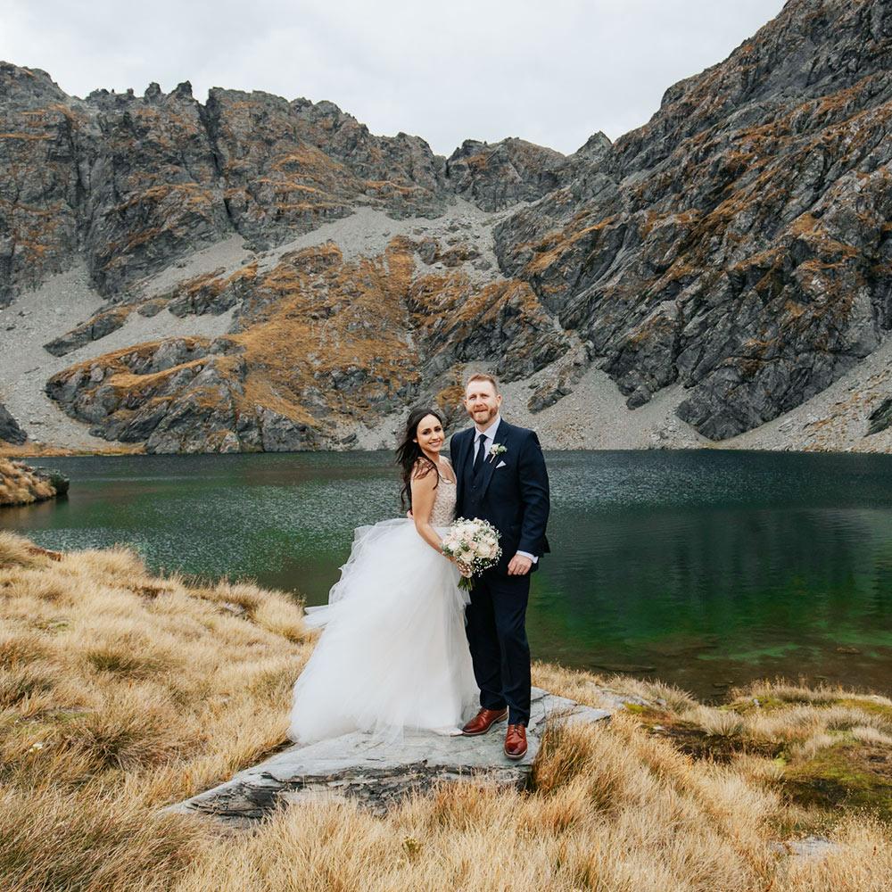 Heli Wedding at Lake Isobel Queenstown