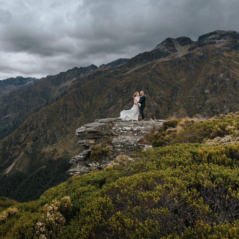 Heli Wedding on Round Hill Queenstown