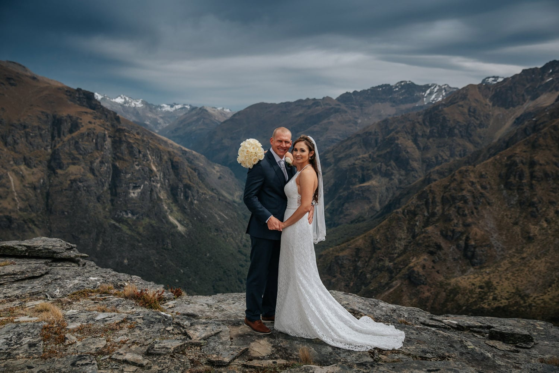 Heli Wedding Queenstown on Round Hill