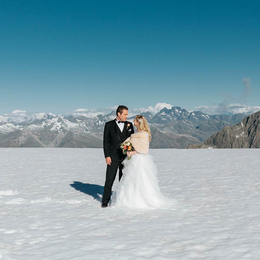 Heli Wedding at Tutako Glacier Queenstown